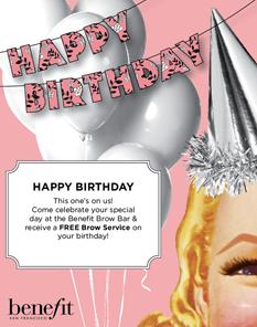 Benefit festeggia con te il tuo compleanno!