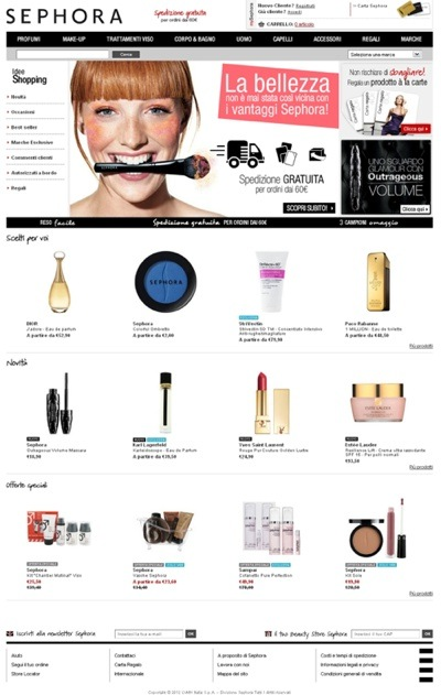 Apre Sephora.it, il sito e-commerce italiano!