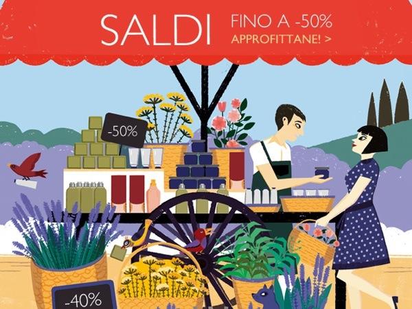 SALDI sul sito L'occitane del 50%!