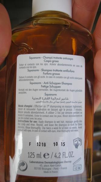 Retro etichetta shampoo