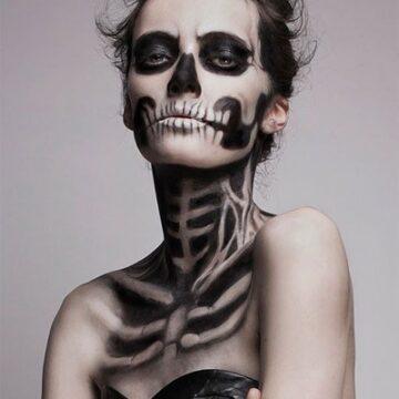 Makeup di Halloween: TESCHIO, idee e trucchi per realizzarlo.
