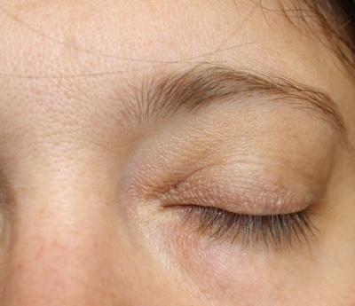 Occhio al naturale senza mascara