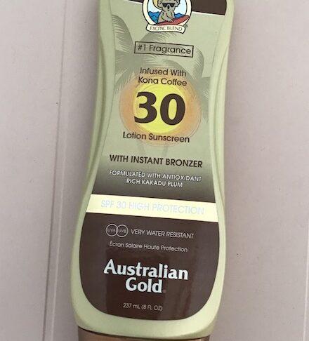 Crema solare Australian Gold spf 30 con Kona Coffee